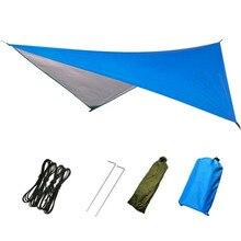 230x140CM Waterproof Sun Shelter Outdoor Awnings Tent Tarp Anti UV Beach Tent Shade Camping Hammock Rain Camping Sunshade