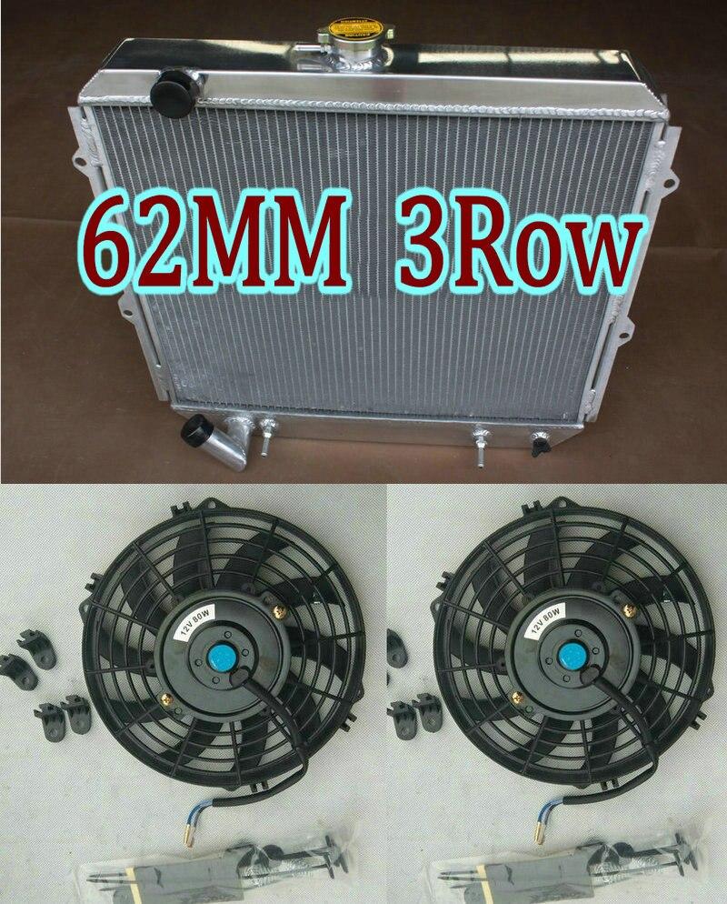 Radiador de aluminio + FAN para Mitsubishi Pajero/Montero ¿/SR L040/V20 NG NH NJ NL NK 3.5L 6G74 V6 V45W/V25W 1983-2000/MT SUV
