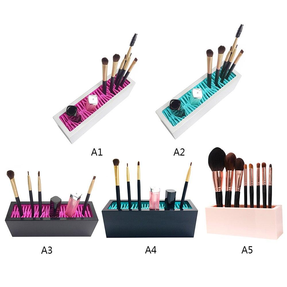 Nuevo organizador de brochas de maquillaje, estante de secado del cepillo Facial, estante de exhibición de pinceles con forma de flor, Cosméticos de belleza