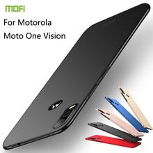 Coque MOFi pour Motorola Moto One Vision coque téléphone rigide pour MOTO One Zoom E6 Plus Z4 Force Play P50 Note P40 One Pro
