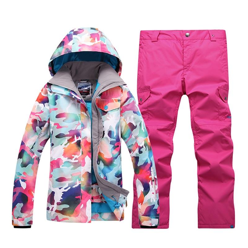 GsouSnow зимние женские лыжные костюмы, уличные легкие камуфляжные, ветрозащитные, водонепроницаемые, теплые альпинистские штурмовые костюмы