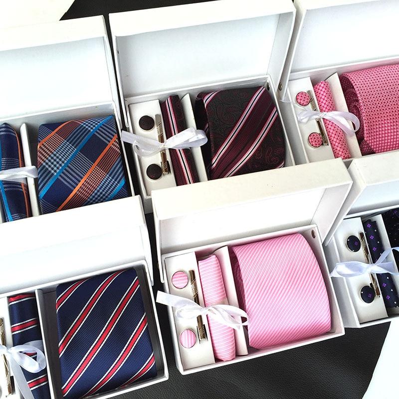 Fashion 6PCS/Box Mens Tie  Men Accessories Neck Tie Set Gifts for Men  Neckties 8cm Slim Tie