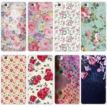 Piękne kwiaty różowe róże Sakura miękki futerał na telefon TPU etui na Huawei P8 P9 P10 P20 Mate 10 Pro Y5 Y6 II Y7 Honor 6X7X9 Lite