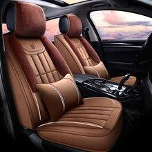 Funda de asiento de invierno de felpa para Porsche Cayenne SUV Caimán Macan, cojines de asiento de coche envío gratis