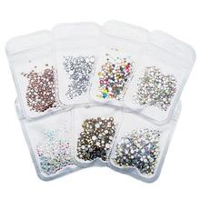 500 pièces Nail Art strass mélange SS3-SS20 taille verre Flatback cristal ongles strass pour ongles Art 3D décorations MJZ2101