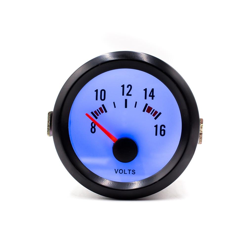 """CNSPEED 2 """"52mm 8-16V Auto Volts Volts Medidor de Carro Calibre Mecânico LED Azul Tensão Vermelho pointer Volt YC100015"""