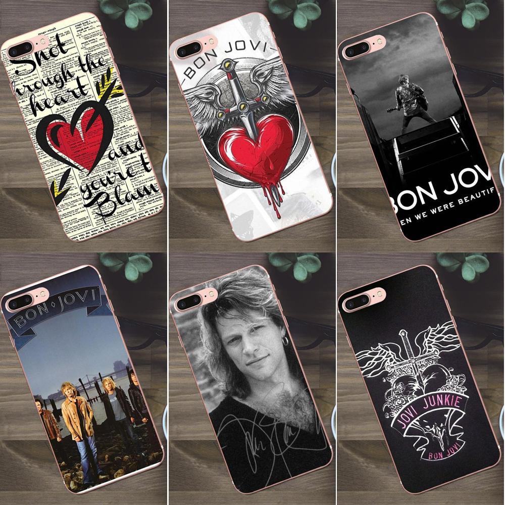 Corazón rojo de Jon Bon Jovi para Huawei G8 Honor 5C 5X 6 6X 7 8 9 Y5II Mate 9 P7 P8 P9 P10 P20 Lite Plus 2017 TPU suave del teléfono de diseño