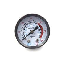 Manómetro de presión de aire de barra de doble escala 10mm 1/4 rosca BSP 0-180 PSI 0-12 para compresor de aire de hierro