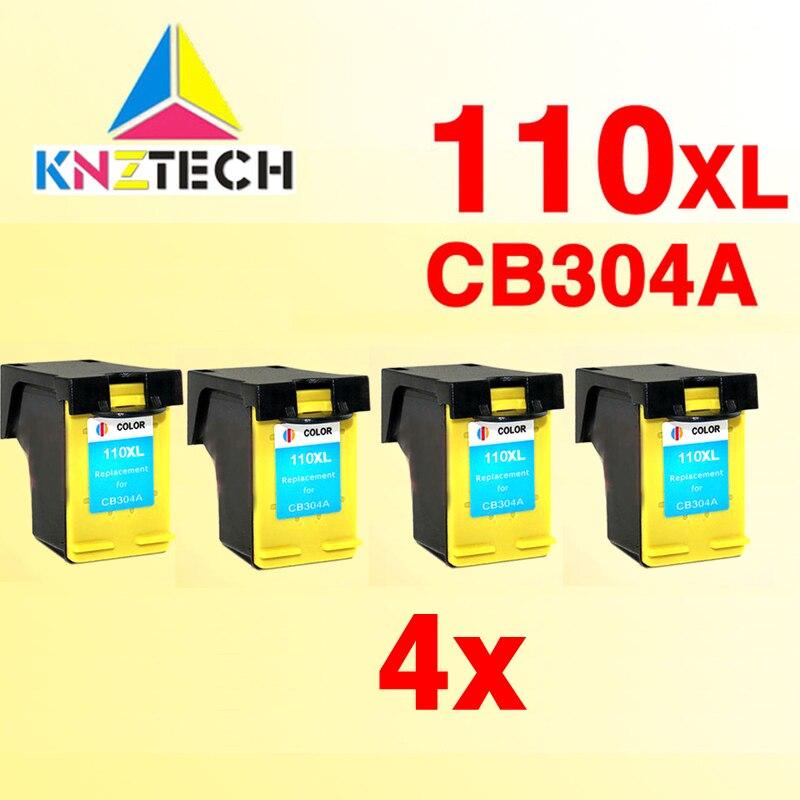 4x Cartouches Dencre pour 110 XL 110XL for110 for110XL Photosmart A433 A618 A432 A314 A516 A612 A717 A320 A436 A440