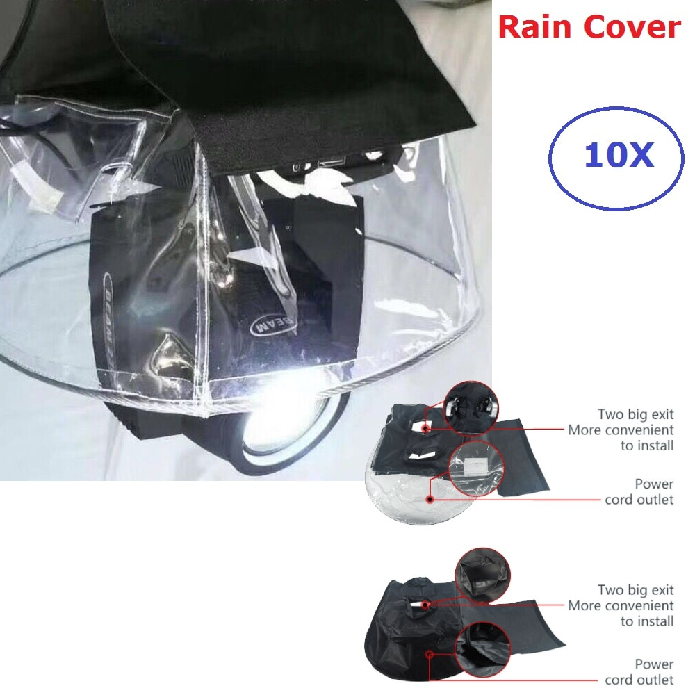 Moving Head Lights Cloth Rain Cover Add Crystal Plastic Rain Snow Coat Waterproof Bag For Outdoor Performance No Affect Light