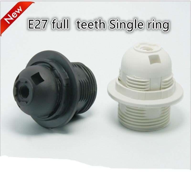 Led e27 plástico suporte da lâmpada 10 pçs/lote e27 edison parafuso e27 base de tomada de luz suporte da lâmpada de soquete diy frete grátis
