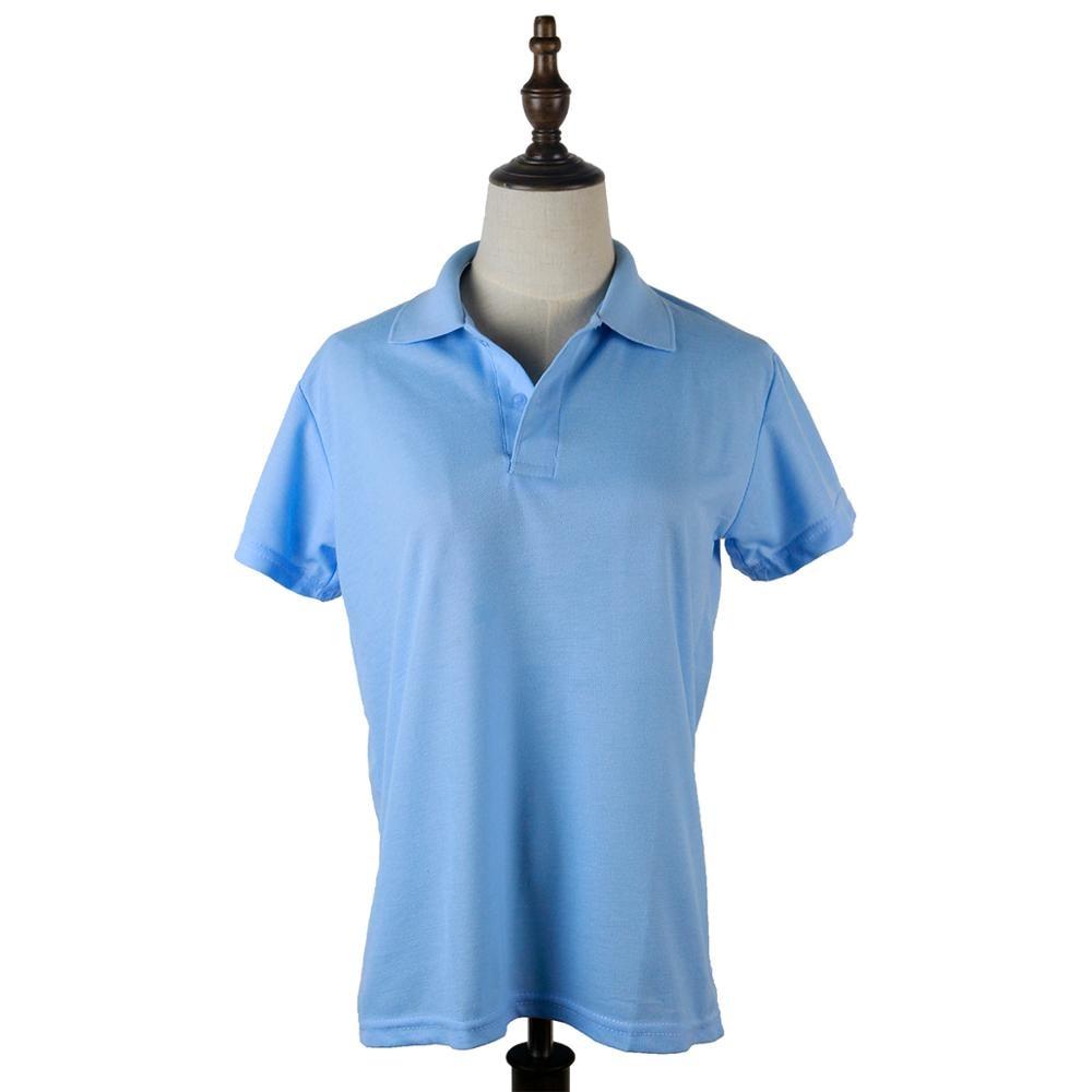 Camisa polo para mujer, camisa para mujer, camisas lisas de manga corta con ojal para verano femenina
