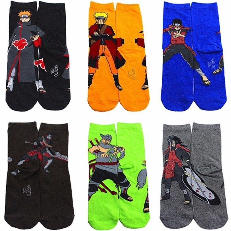 Naruto uchiha itachi uzumaki akatsuki cosplay adereços meias dos desenhos animados do dia das bruxas personalidade maré meias primavera outono quente meia