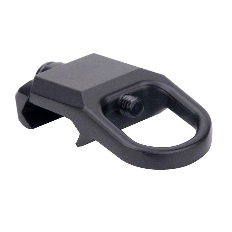 Accesorios de caza engranaje QD eslinga metálica de montaje plano hebilla con arnés gancho de acero adaptador de montaje para Rifles de 20 mm Picatinny