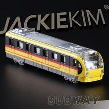 Exquisitos juguetes de colección de alta simulación: Diyaduo coche de estilo Metro modelo 1:38 tren de aleación modelo rápido y Fruious