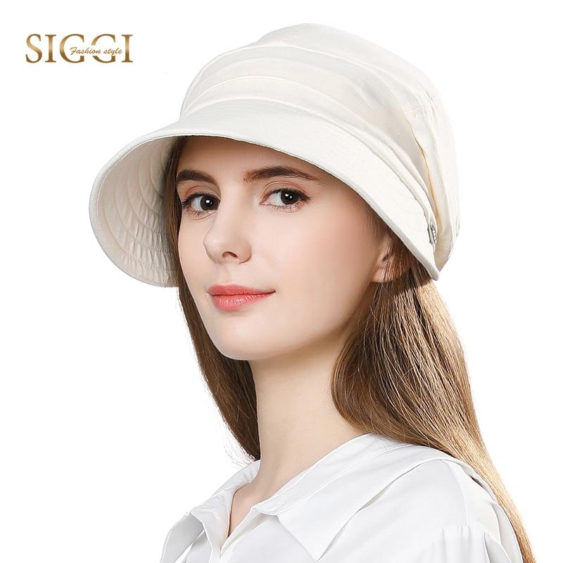 FANCET Women Summer Sun Hat Visor Linen Bucket Caps Packable Wide Brim UPF50+ UB Cap Windproof Chin Strap Fashion 89033