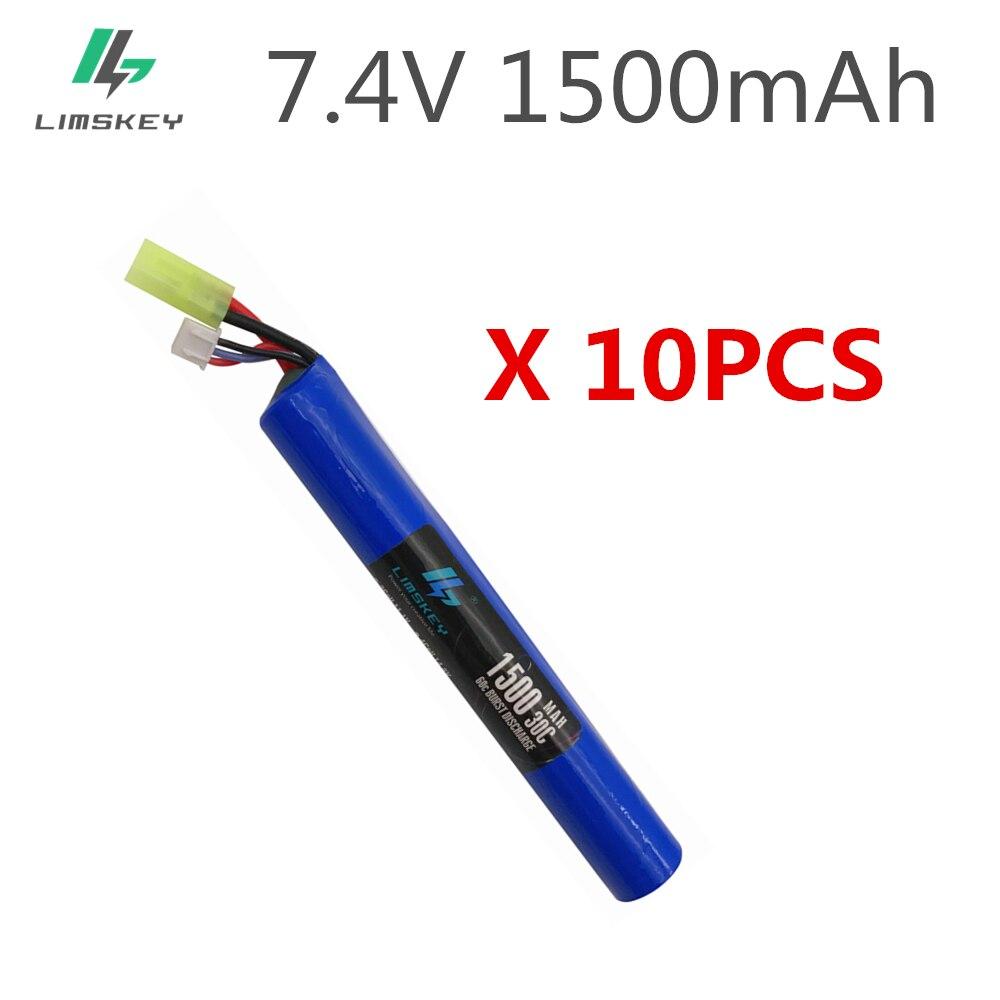10 Uds 2S 18650 RC Lipo batería de 7,4 V 1500MAH 30C AKKU Mini Airsoft juguetes pistola de la batería RC modelo Tamiya envío gratis