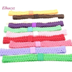 32pcs/lot NEW 16Colors Elastic Lace Headband Flexible Shimmery Shimmer Satin Stretchy Hair Accessory Can Chose Color