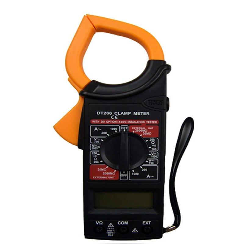 DT266 портативный цифровой дисплей высокой точности автоматический с зуммером AC и DC Цифровой мультиметр зажим