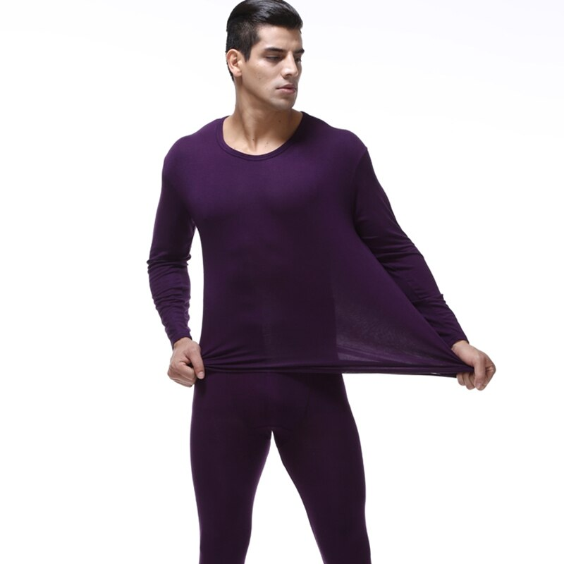 Alta calidad de talla grande 7XL hombre long Johns trajes hombres Delgado Modal conjuntos de ropa interior térmica o-necktops y pantalones