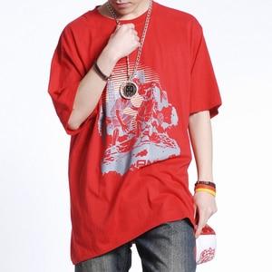 New arrival Men Short Sleeved Summer Thin Cotton Round Collar Hip hop T Shirt fashion super large plus size L XL 2XL 3XL 4XL