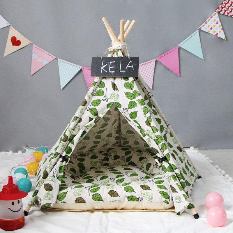 JORMEL палатка для домашних животных кровать для собак кошка игрушка дом портативный моющийся вигвам для домашних животных узор в полоску Мод...