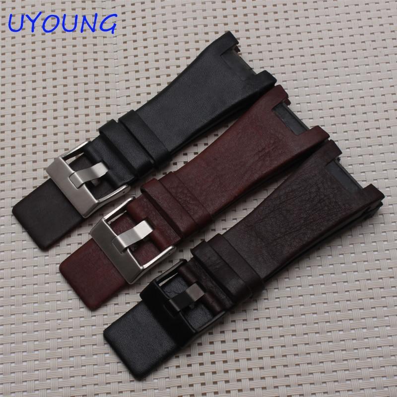 Качественный ремешок для часов из натуральной кожи 32*17 мм, сменный кожаный ремешок для часов DZ1216 DZ4246