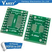 10 PCS TSSOP20 SSOP20 SOP20 zu DIP20 PCB Transfer Board DIP Pin Board Pitch Adapter