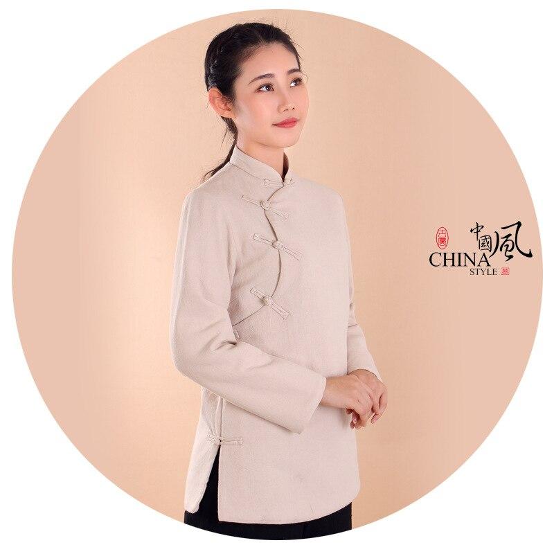 Traje de algodón y lino Unisex de algodón y lino de invierno cálido traje zen poner uniformes de meditación tang trajes de artes marciales ropa de monje