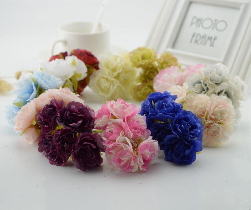 30 pcs baratos Rosas de seda Falsa flor scrapbooking decoração do carro do casamento Caixa de presente Artesanal DIY grinalda de Flores Artificiais Para Casa