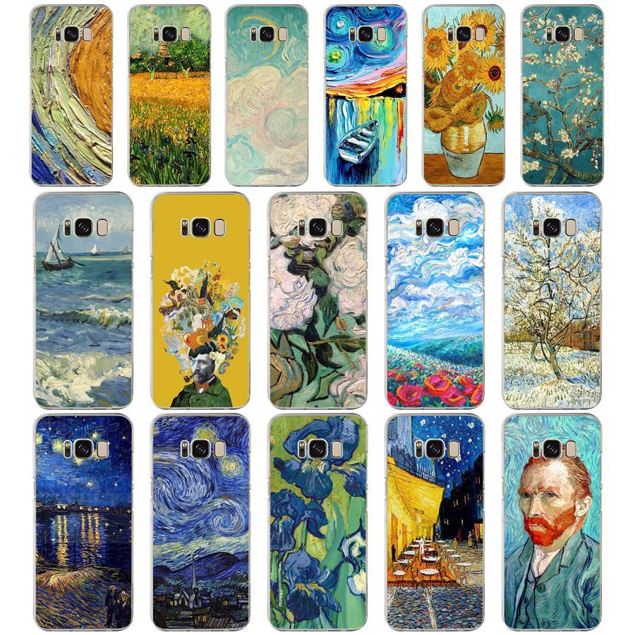 114 ZX Van Gogh TPU de silicona suave funda para Samsung Galaxy s6 s7 borde S9 S8 S10 Plus teléfono cubierta Capa tapa