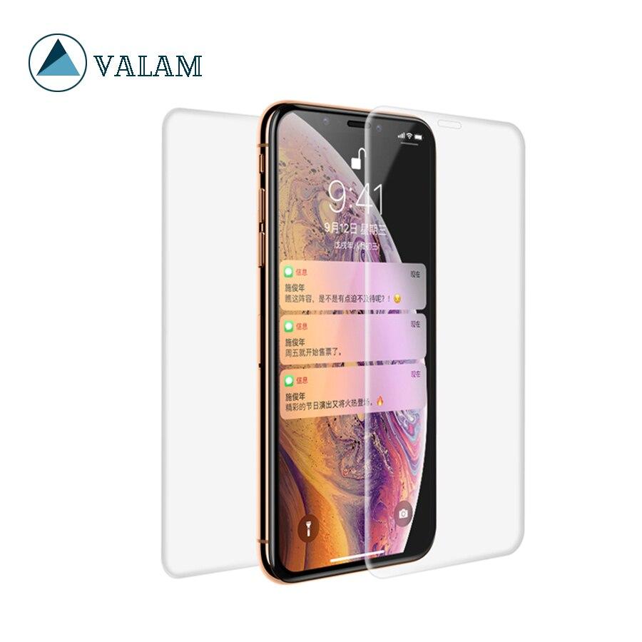 Protector de pantalla de alta tecnología VALAM para iPhone X XS XsMax, película trasera de cubierta completa para iPhone XR 6 7 8 plus