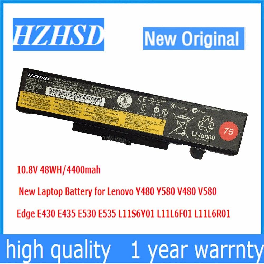 10,8 V 48WH Original nuevo Y480 batería para portátil Lenovo Y580 V480 V580 borde E430 E435 E530 E535 L11S6Y01 L11L6F01 L11L6R01