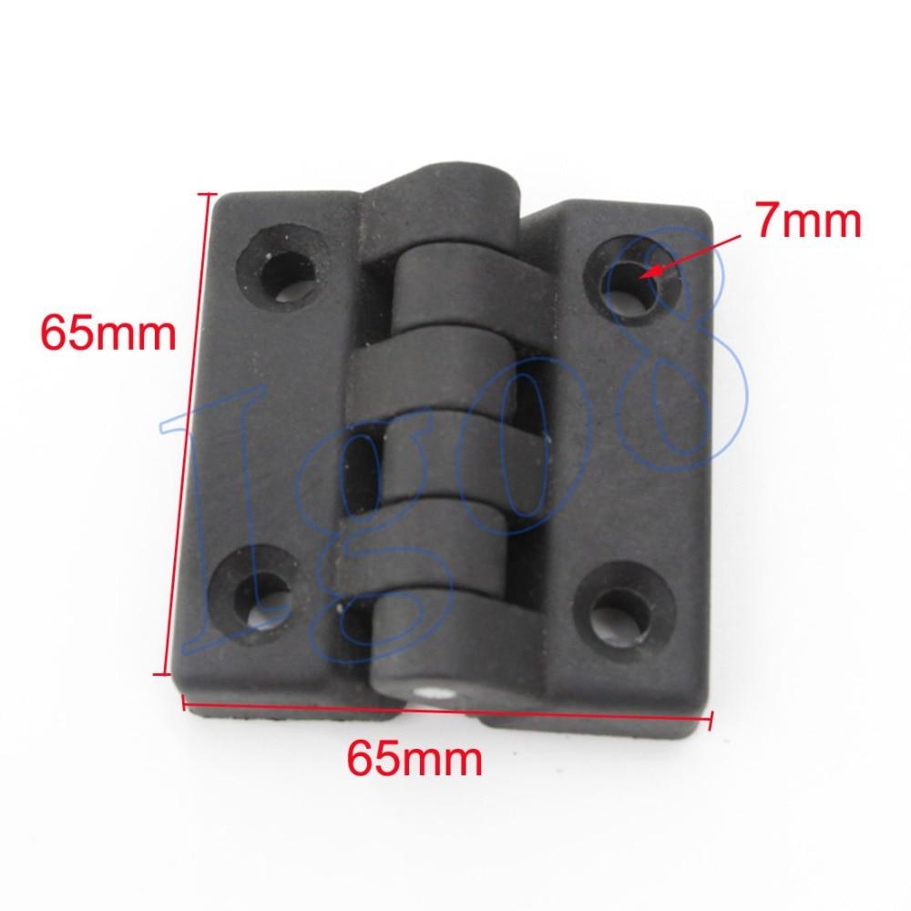 Bisagras negras de plástico de 65mm, bisagra de cojinete de puerta de armario de 4 piezas