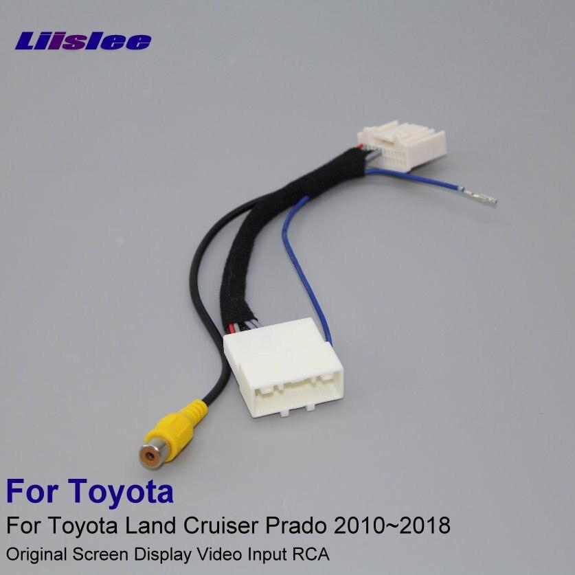 24 pines adaptador de coche de Cable de alambre para Toyota Land Cruiser Prado 2010 ~ 2018 cámara de visión trasera/pantalla Original de entrada RCA