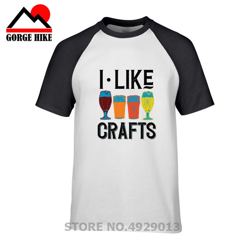 2019 I Like Crafts Beer Brewing T-Shirt round neck T-shirt men's summer men's short T-shirt  Fashion 100% Cotton Slim Fit Top