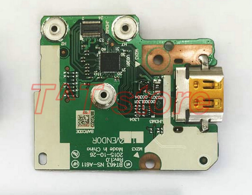 Originele T460 T460P Power Botton Hdmi Board NS-A611 Test Goede Gratis Verzending