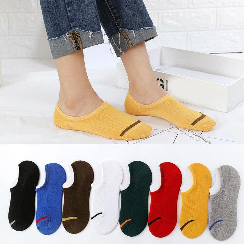 Nuevo estilo, 1 par, Unisex, cómodo calcetín de algodón, Zapatillas, calcetines cortos hasta el tobillo, calcetines transpirables populares de alta calidad, medias calcetín