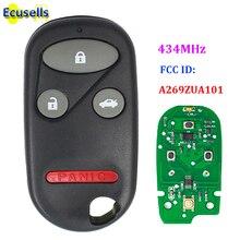 4 przycisk dostęp bezkluczykowy Pilot z kluczykiem samochodowym dla Honda CIVIC ACCORD CR V wgląd Pilot Odyssey preludium 3 + 1 przycisk 434MHZ A269ZUA101