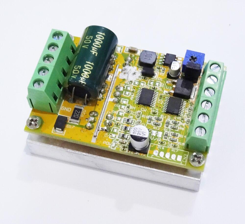 380 Вт 3 фазы бесщеточный контроллер двигателя (No/без датчика Холла) BLDC ШИМ PLC плата драйвера постоянного тока 6-50 в