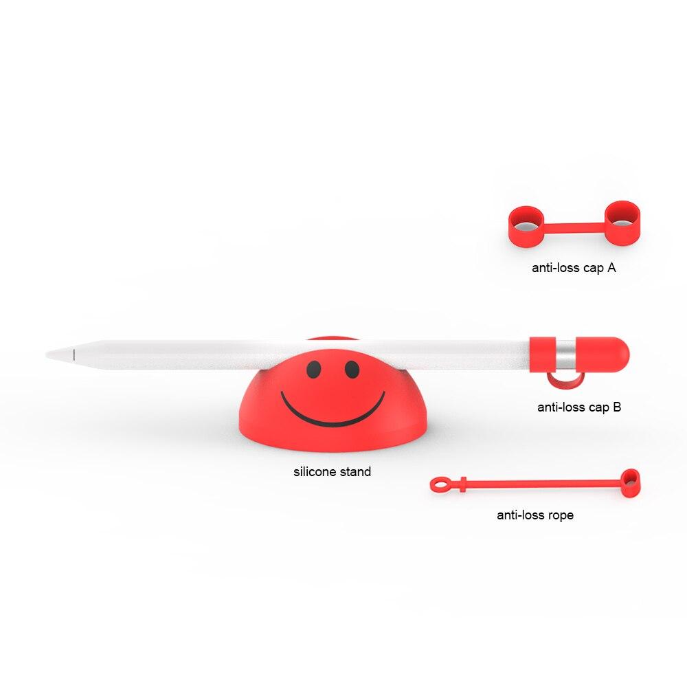 Soporte de silicona suave Liboer para lápiz Apple almacenamiento inferior para plumín y accesorios adaptadores para Apple iPad Pro Pencil