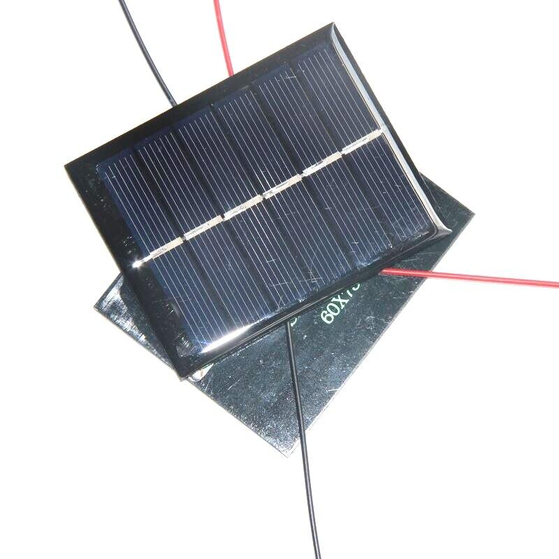 Kits de Educação Solar com Cabo de 3 Whole Sale Lote Buheshui 0.6 w Epóxi Painel v Mini Célula Solar Faça Você Mesmo Carregador 60*75 mm 500 Pçs –