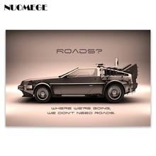 Zurück In Die Zukunft Auto Art Silk Poster und Drucke 12x18 24x36 zoll Classic Movie Wand bilder Room Home Dekoration