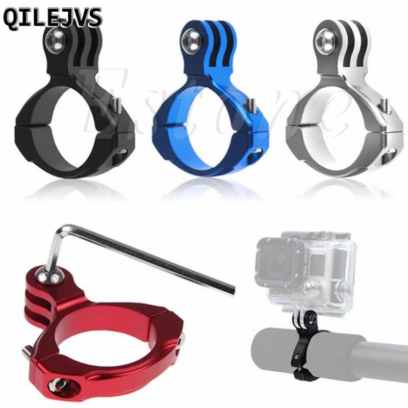 QILEJVS accesorios para bicicletas Manillar de aluminio montaje de abrazadera para Gopro Hero 1/2/3/3 + Cámara