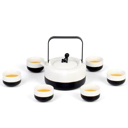 طقم إبريق شاي كبير على الطريقة اليابانية ، سيراميك ، سعة كبيرة ، صندوق هدايا