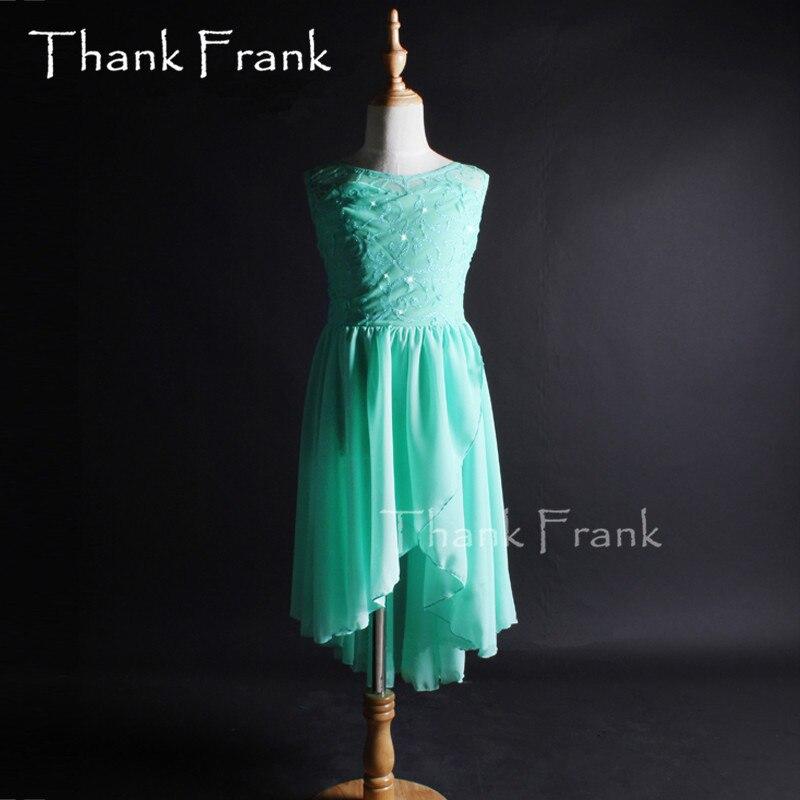 فستان رقص شيفون منسوج عصري للبنات ، زي معاصر ، c327