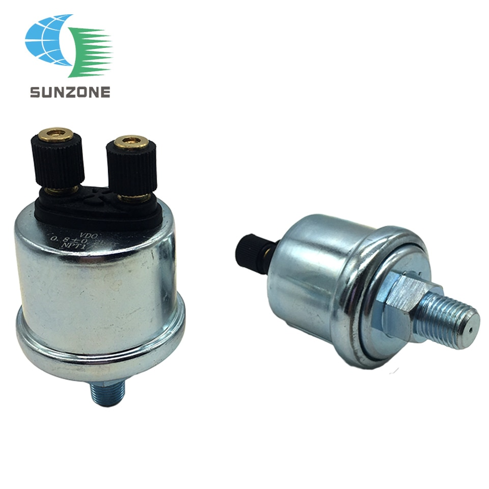 Partes del motor 1/8 NPT 10 MM tamaño de tornillo VDO Sensor de presión de aceite 0-10 Bar con alarma