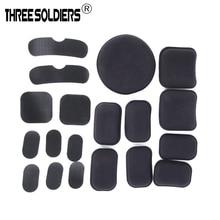19pcs/set Tactical Helmet EVA Pads+Inside Magic Stickers (Standard Version) For Fast Helmet Airsoft Paintball helmet Accessories