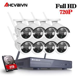 Система видеонаблюдения, 8 каналов, 1080P, NVR, Wi-Fi, 720P HD, МП