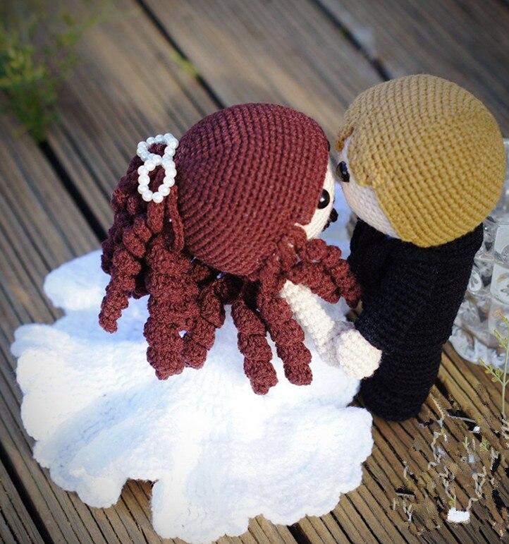 crochet toys  amigurumi  handmade  wedding  rattle  doll   model  number  KY0031
